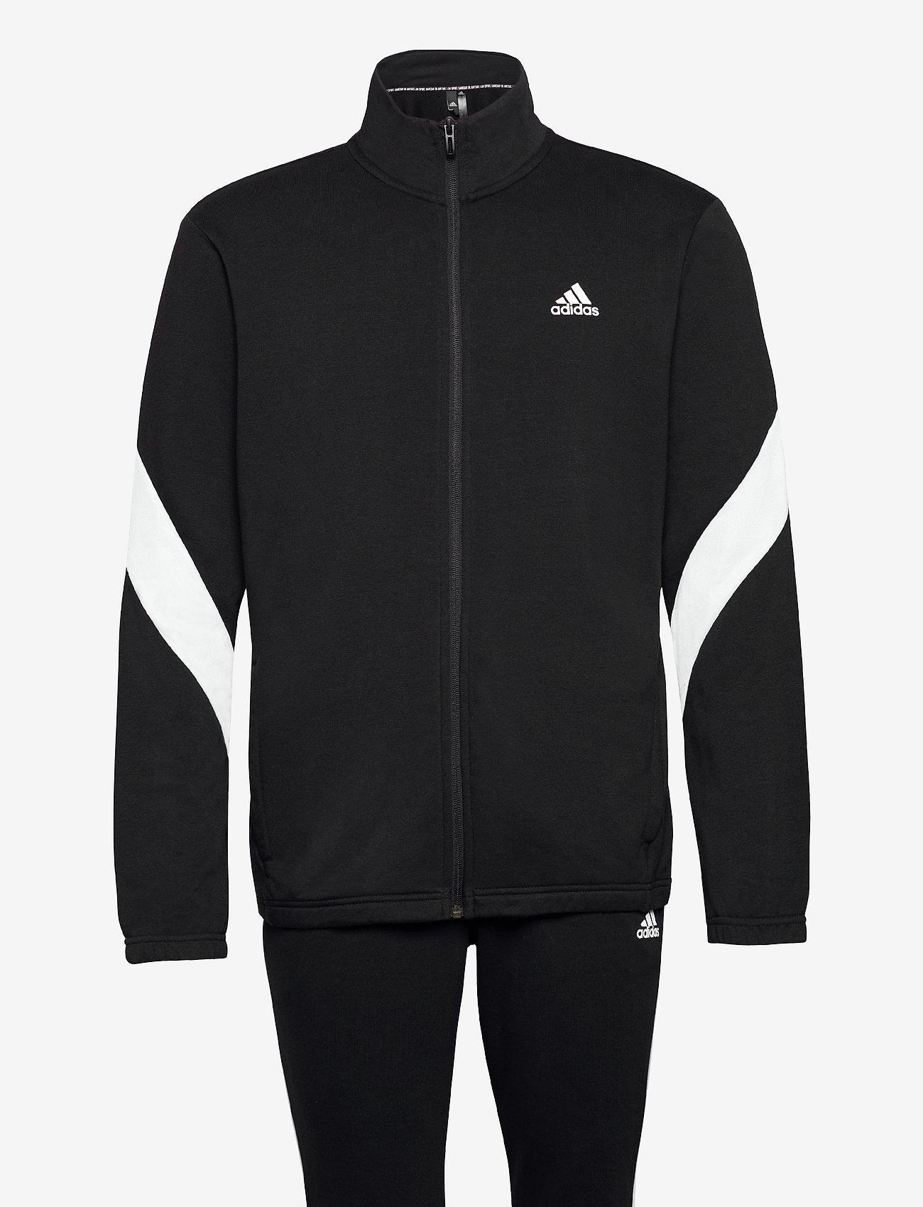 adidas Performance - Sportswear Cotton Track Suit - dresy - black/white - 1