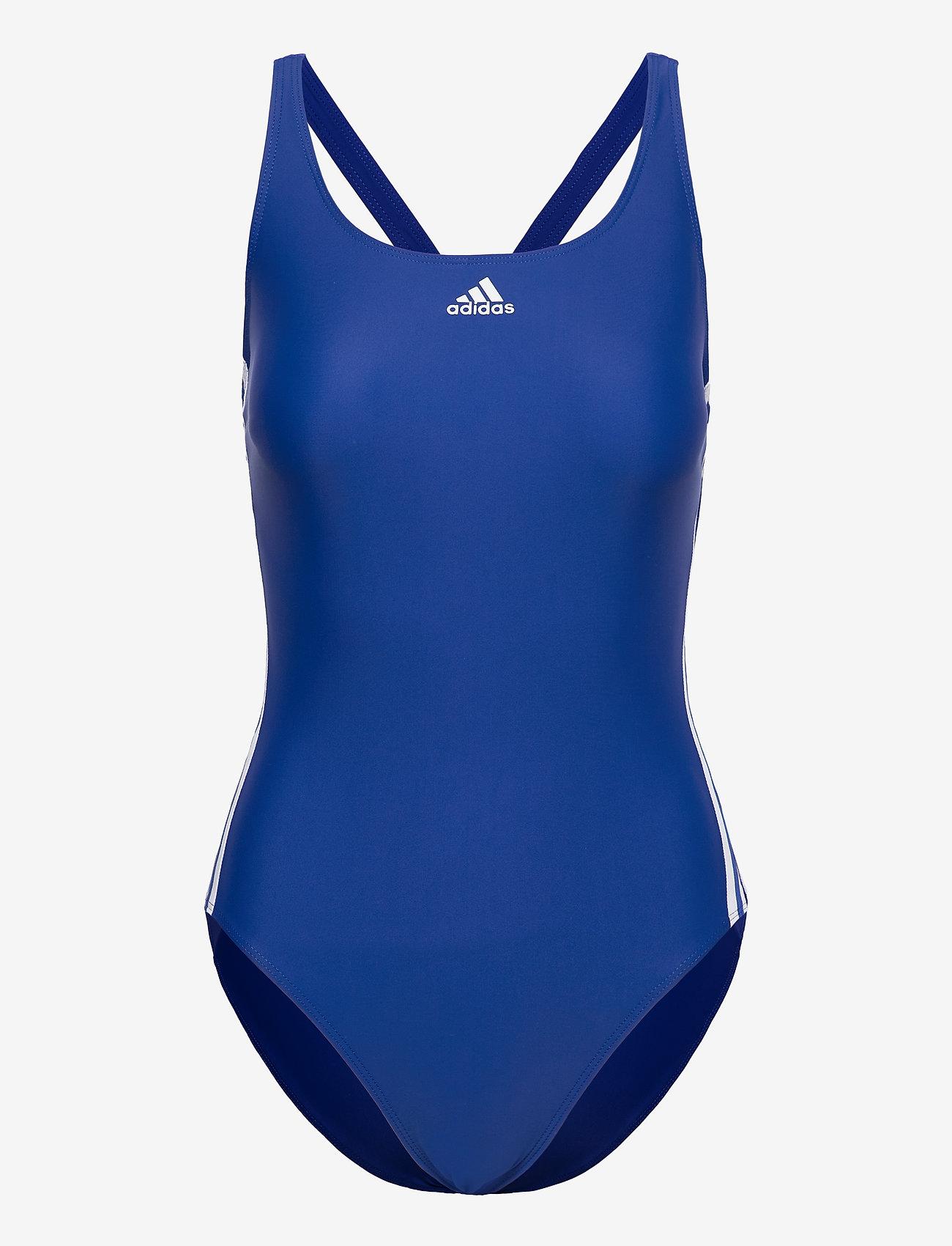 adidas Performance - SH3.RO Classic 3-Stripes Swimsuit W - stroje kąpielowe - royblu/white - 1