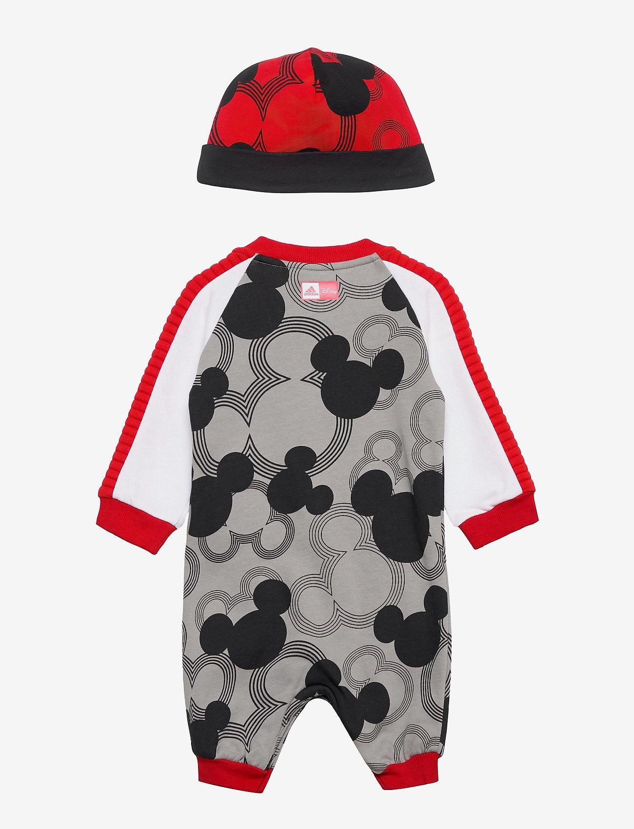 adidas Performance - Disney Mickey Mouse Onesie - langärmelig - mgsogr/black/white/vi - 1