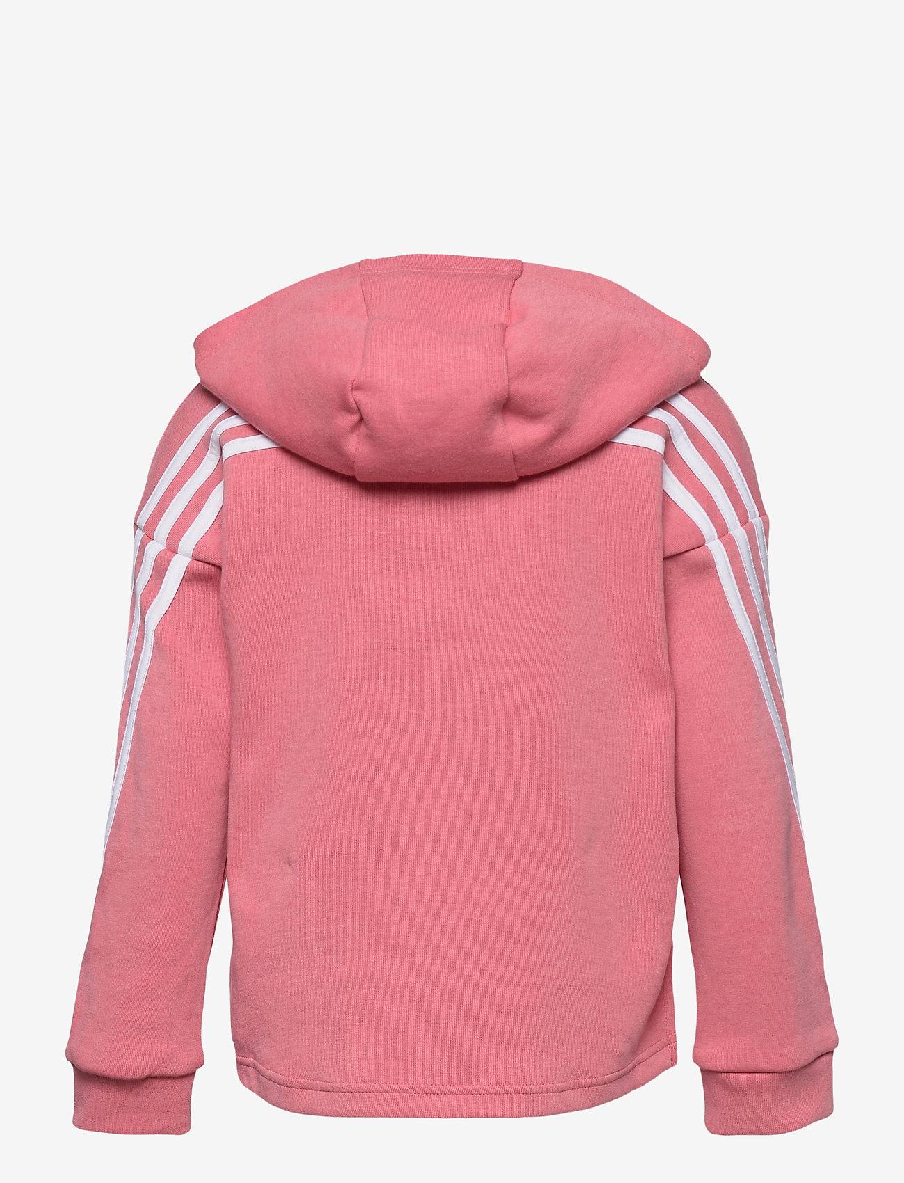 adidas Performance - 3-Stripes Full-Zip Hoodie - hoodies - hazros/white - 1
