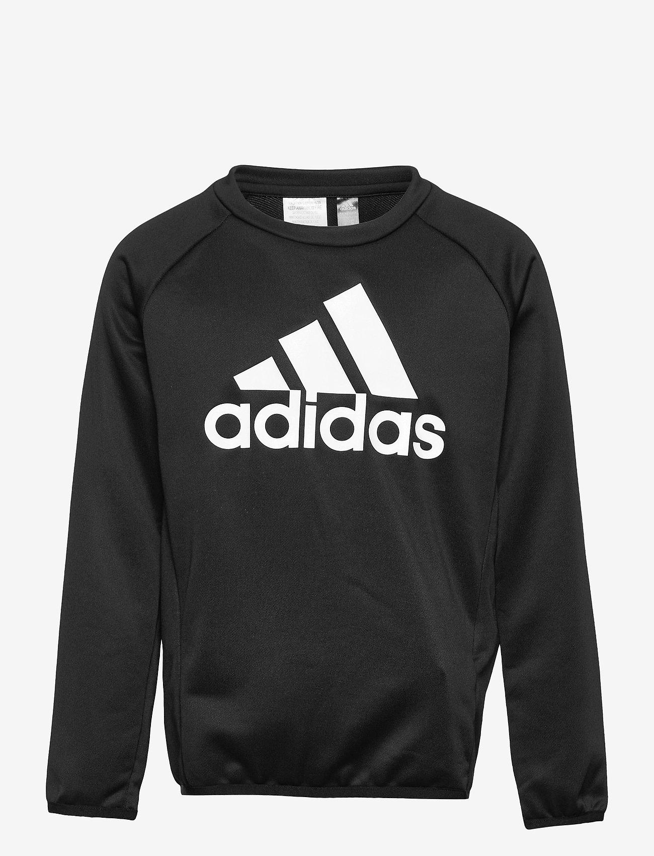adidas Performance - Designed To Move Big Logo Sweatshirt - sweatshirts - black/white - 0