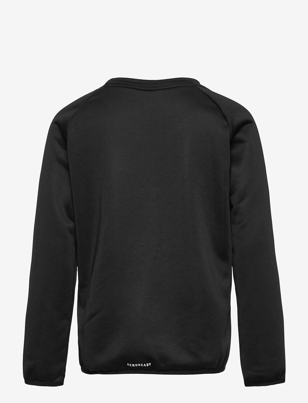adidas Performance - Designed To Move Big Logo Sweatshirt - sweatshirts - black/white - 1