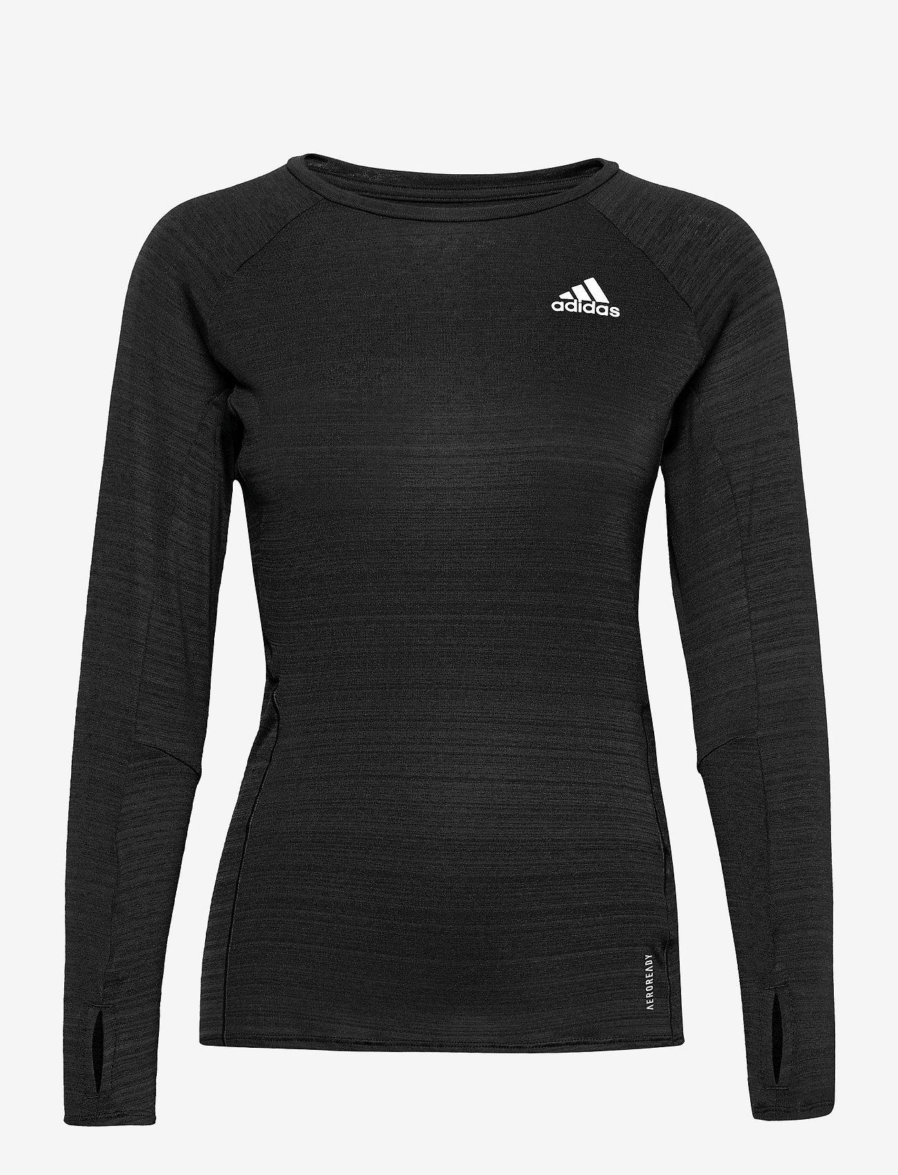 adidas Performance - Runner Long Sleeve T-Shirt W - langærmede toppe - black/refsil - 0