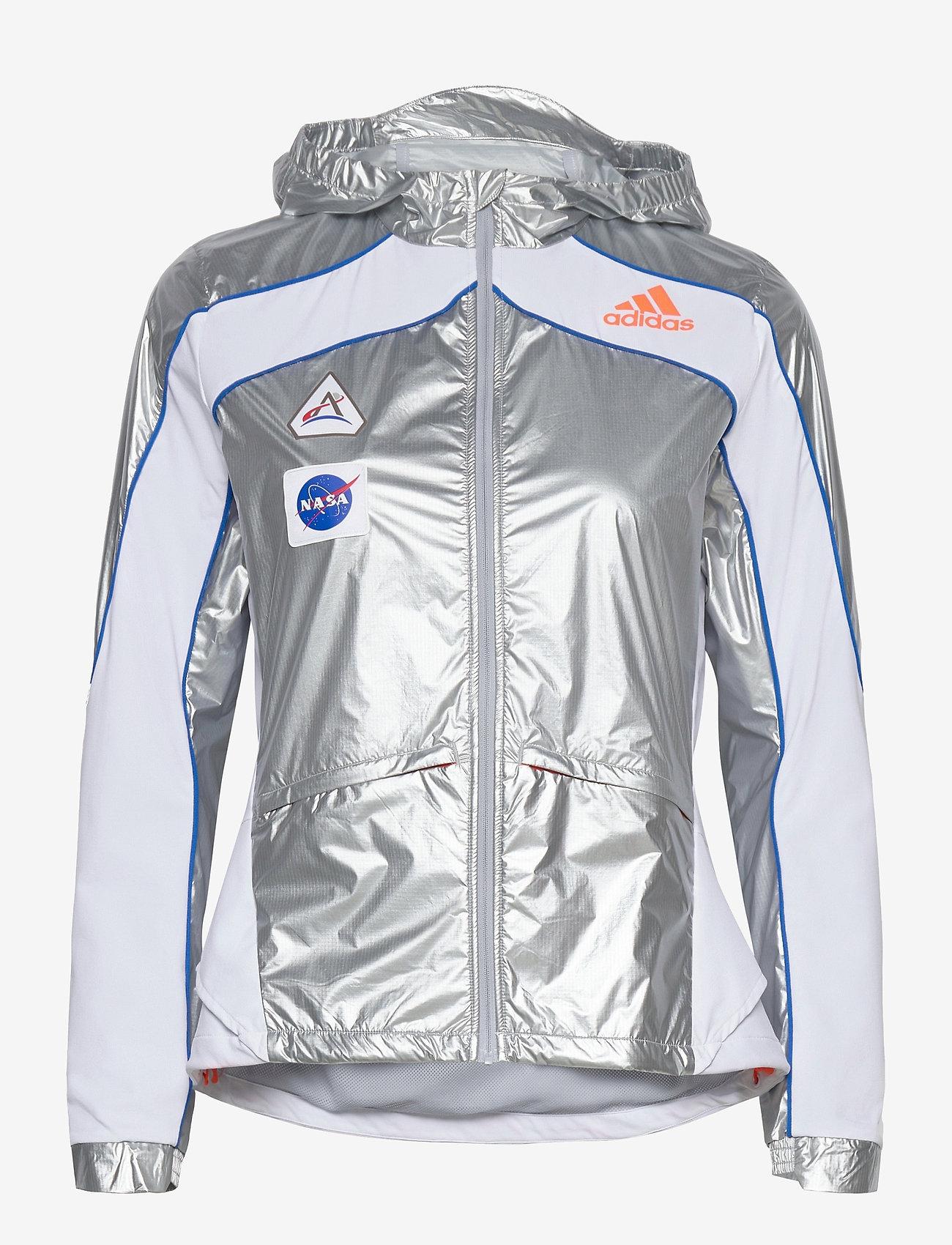 adidas Performance - Marathon Space Race Jacket W - träningsjackor - msilve/white - 1