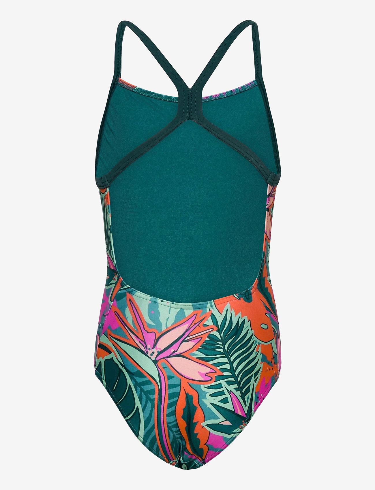 adidas Performance - Flower Swimsuit - swimsuits - acttea/wiltea - 1