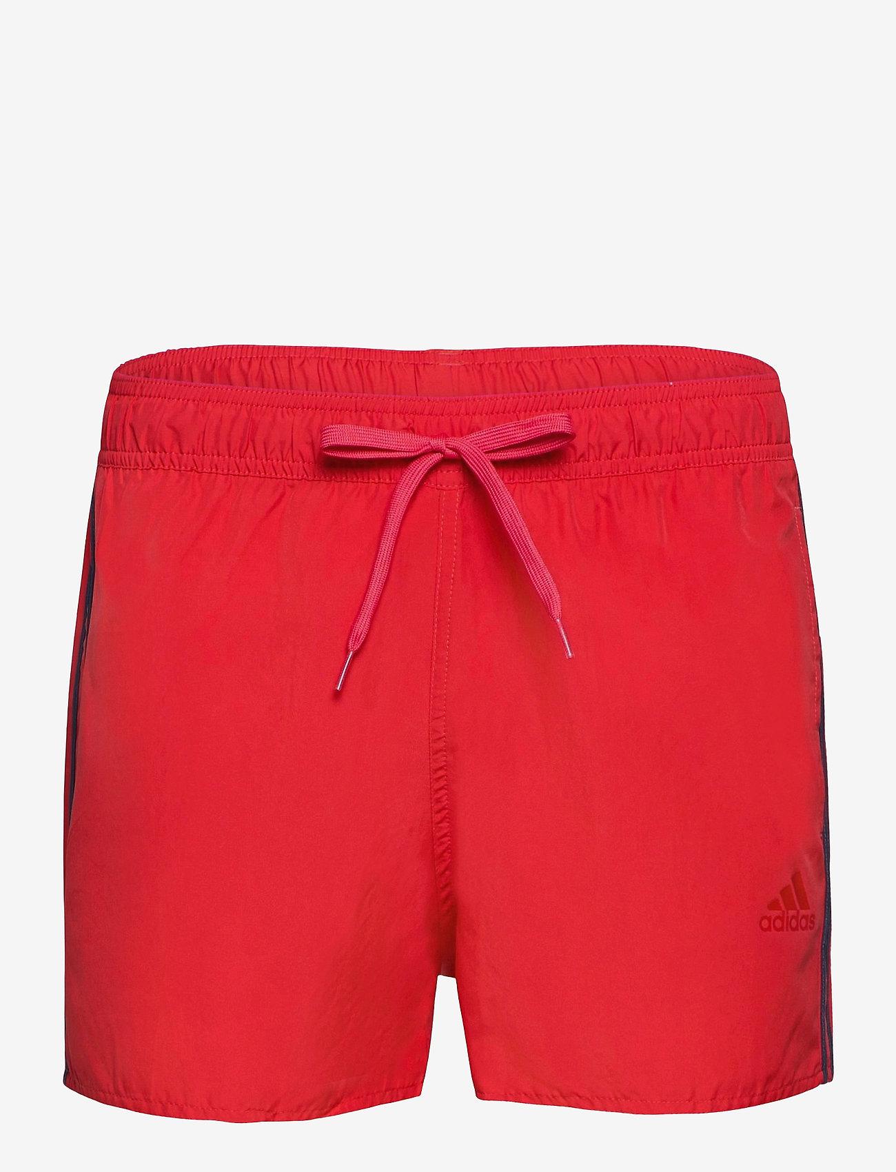 adidas Performance - Classic 3-Stripes Swim Shorts - shorts - glored/crenav - 1