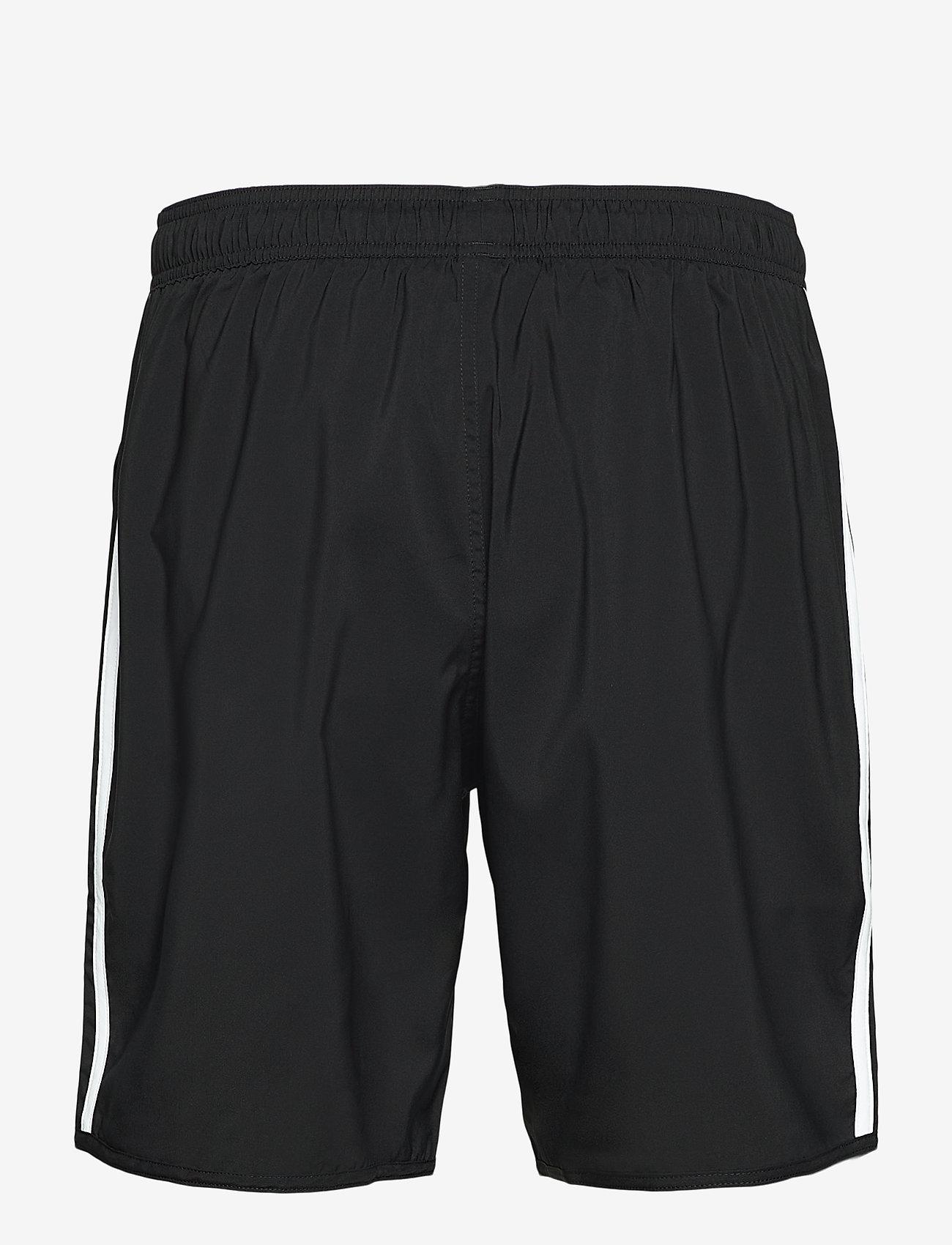 adidas Performance - Classic-Length 3-Stripes Swim Shorts - shorts - black/white - 1
