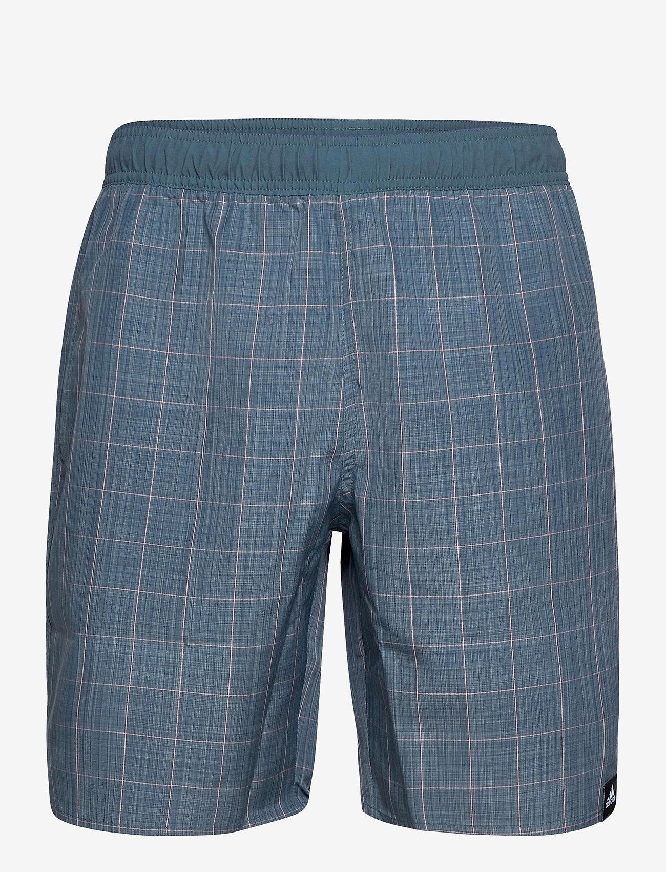 adidas Performance - Check Swim Shorts - shorts - legblu - 0