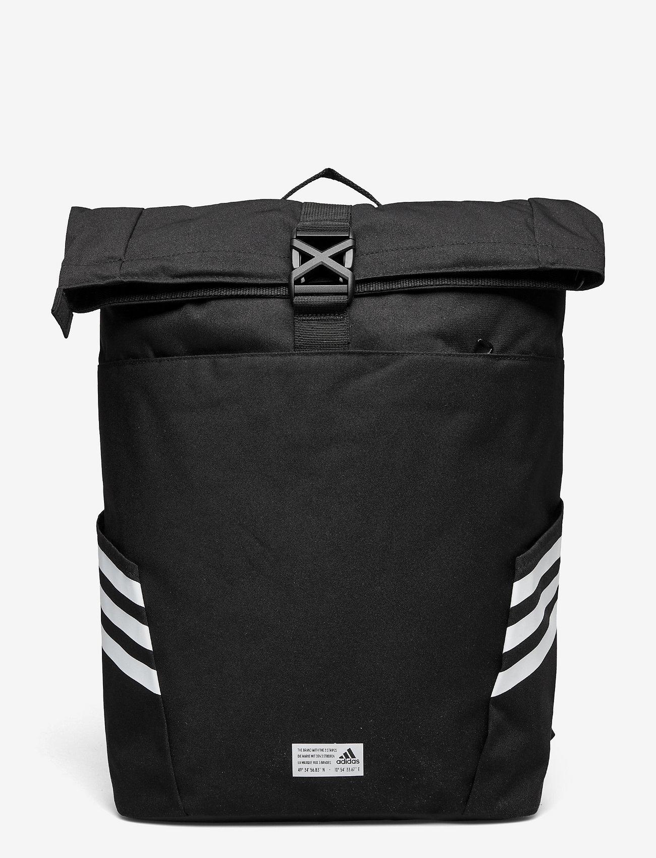 adidas Performance - Classic Roll-Top Backpack - sportstasker - black/white - 0