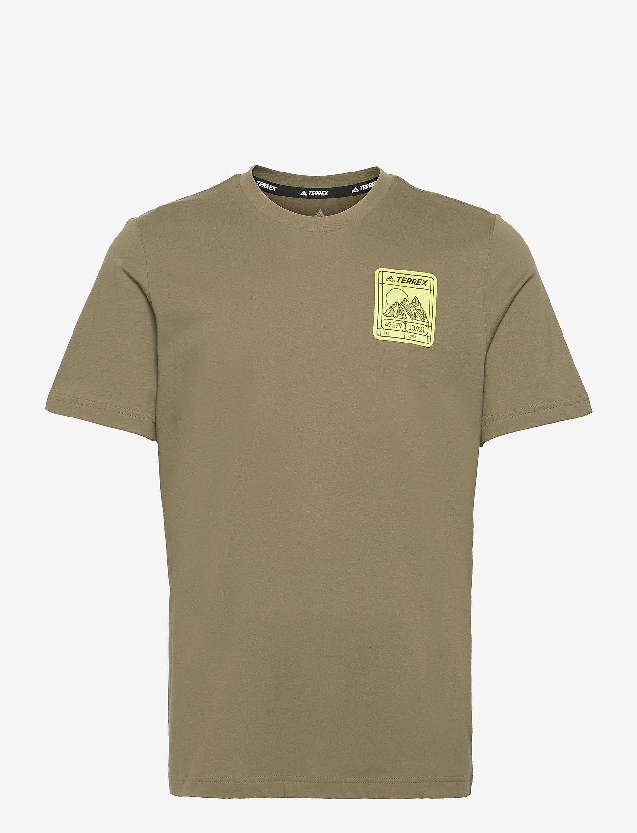 adidas Performance - Terrex Patch Mountain Graphic Tee - t-shirts - focoli - 1