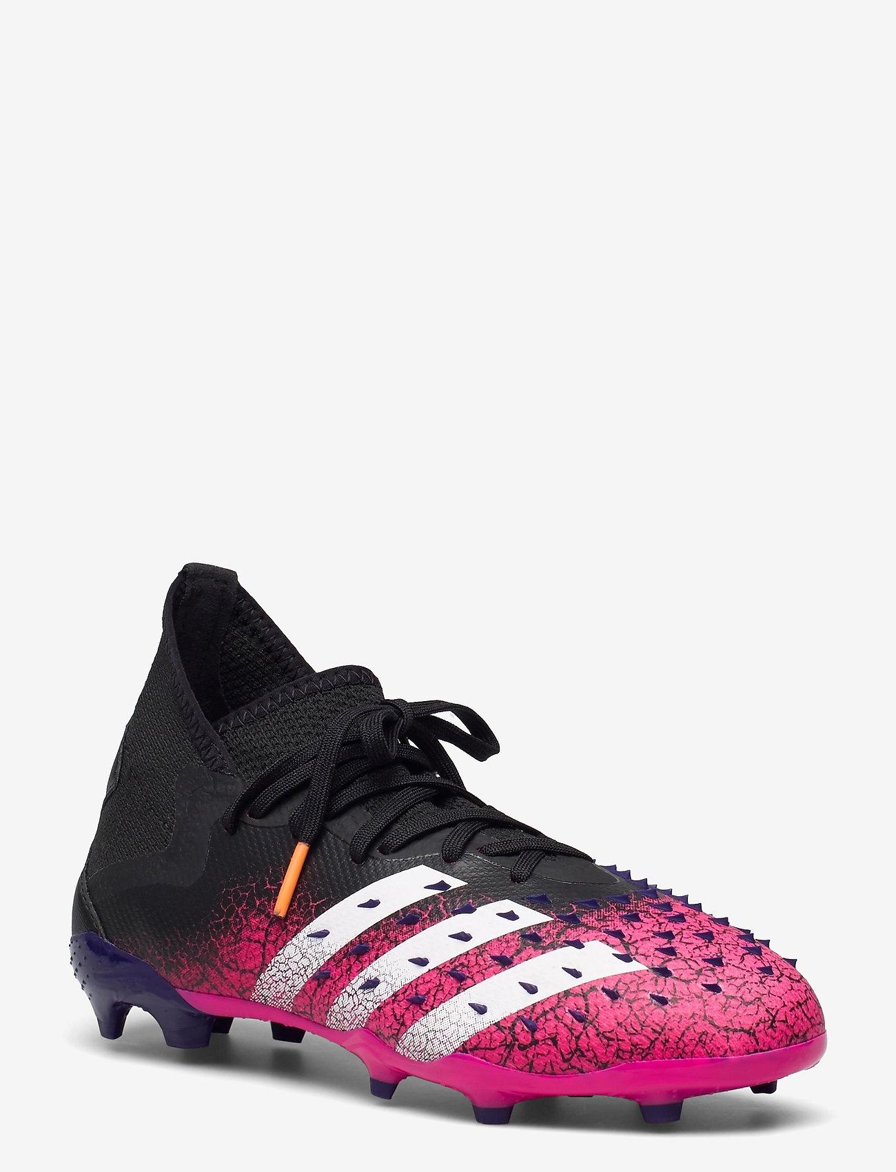 adidas Performance - PREDATOR FREAK .2 FG - fotballsko - cblack/ftwwht/shopnk - 0