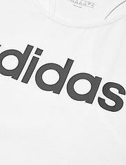 adidas Performance - Essentials Linear Tank Top W - topjes - white/black - 4