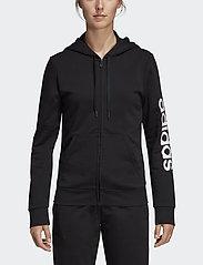 adidas Performance - W E LIN FZ HD - hupparit - black/white - 0