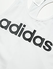 adidas Performance - Designed To Move Logo Tank Top W - topjes - white/black - 2
