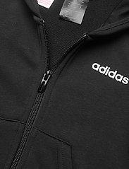 adidas Performance - YG E 3S FZ HD - kapuzenpullover - black/white - 4