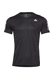 Own The Run Tee T-shirts Short-sleeved Svart ADIDAS