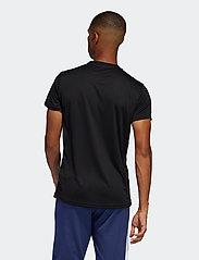 adidas Performance - Run It 3-Stripes T-Shirt - sportoberteile - black/white - 3