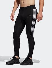 adidas Performance - Run It 3-Stripes Tights - løbe- og træningstights - black/white - 0