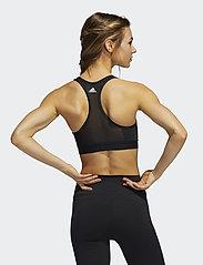 adidas Performance - DRST ASK SP BRN - sport bras: medium - black/white - 3