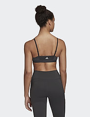 adidas Performance - All Me 3-Stripes Light Support Bra W - sort bras:high - black/white - 5