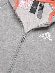 adidas Performance - JG A Bold FZ HD - kapuzenpullover - mgreyh/semcor - 4