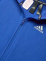 adidas Performance - YB MH 3S FZ - kapuzenpullover - blue/white - 4