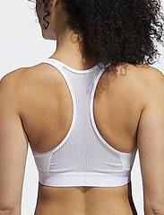 adidas Performance - DRST ASK BRA - sport bras: medium - white - 3