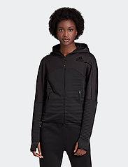 adidas Performance - W ZNE A H C.RDY - hoodies - black - 0