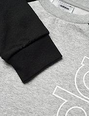 adidas Performance - YB LOGO CREW - sweatshirts - mgreyh/white - 2
