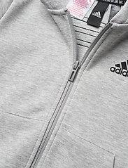 adidas Performance - B 3S FZ - kapuzenpullover - mgreyh/black - 2