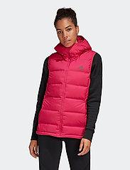 adidas Performance - W Helionic Vest - puffer vests - bopink - 0