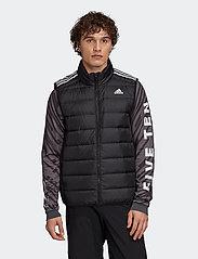 adidas Performance - Essentials Light Down Hooded Parka - sportjackor - black - 0