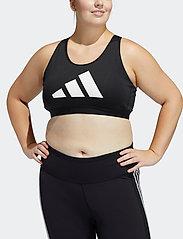 adidas Performance - Don't Rest Bra W (Plus Size) - bras with padding - black/grefou/white - 0
