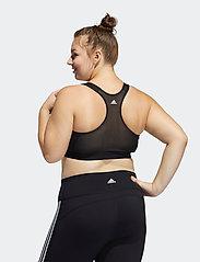adidas Performance - Don't Rest Bra W (Plus Size) - bras with padding - black/grefou/white - 3