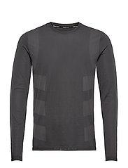 Studio Techfit Seamless Long Sleeve T-Shirt - BLACK/GRESIX