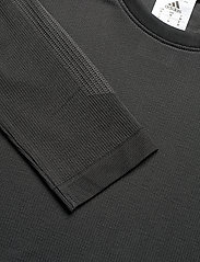 adidas Performance - Studio Techfit Seamless Long Sleeve T-Shirt - basic-strickmode - black/gresix - 4