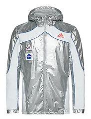 Marathon Space Race Jacket - MSILVE/WHITE