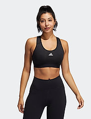 adidas Performance - Believe This Lace-Up Bra W - urheiluliivit: medium tuki - black/white - 0
