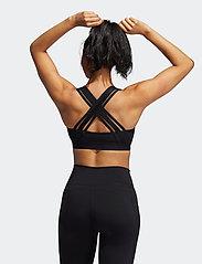 adidas Performance - Believe This Lace-Up Bra W - urheiluliivit: medium tuki - black/white - 3