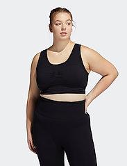 adidas Performance - Studio Bra W (Plus Size) - sport bras: low - black - 0