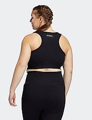 adidas Performance - Studio Bra W (Plus Size) - sport bras: low - black - 3