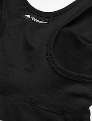 adidas Performance - Studio Bra W (Plus Size) - sport bras: low - black - 5