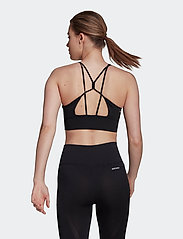 adidas Performance - Aeroknit Designed To Move Seamless Low Support Bra Top W - sport bras: low support - black/white - 3