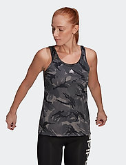 adidas Performance - Designed To Move AEROREADY Camouflage-Print Tank Top W - topjes - gresix/white - 0