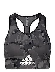 AEROREADY Designed 2 Move Camouflage-Print Bra Top W - BLACK/WHITE