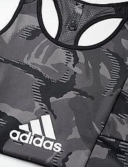 adidas Performance - AEROREADY Designed 2 Move Camouflage-Print Bra Top W - sort bras:high - black/white - 4