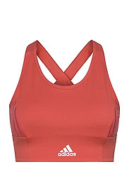 Designed To Move AEROREADY Light Support Bra Top W - CRERED/WHITE