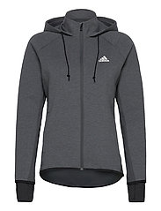 Designed To Move AEROREADY Full-Zip Hoodie W - DGREYH/WHITE