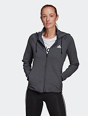 adidas Performance - Designed To Move AEROREADY Full-Zip Hoodie W - hoodies - dgreyh/white - 0