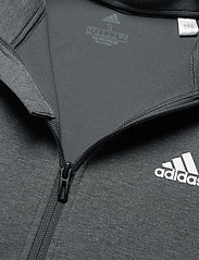 adidas Performance - Designed To Move AEROREADY Full-Zip Hoodie W - hoodies - dgreyh/white - 4